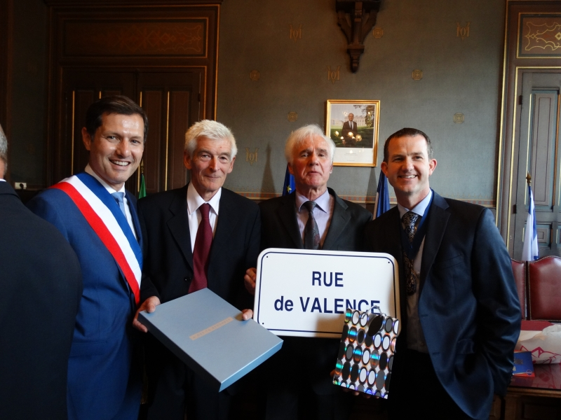 The Mayor of Valence, Vice-Chair of TDC, Chair of TTA and Chair of Jumelage